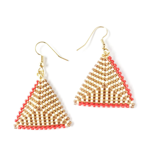 Triangle Beaded Earring - The Biscuit Marketplace