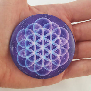 Flower of Life Sacred Geomoetry Fridge Magnet - The Biscuit Marketplace