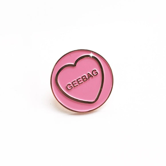 Geebag - Hate Hearts Enamel Pin - The Biscuit Marketplace