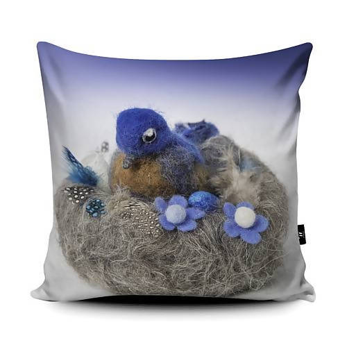 bluebird cushion - The Biscuit Marketplace