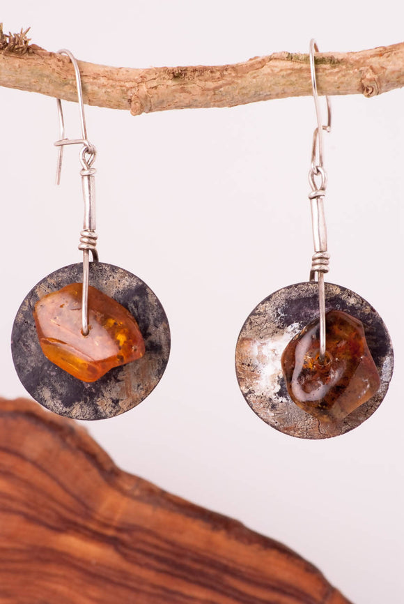 Ethnic Baltic Amber Earrings - The Biscuit Marketplace