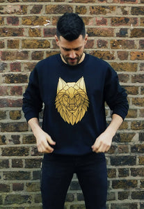 Geometric Wolf Sweater - The Biscuit Marketplace