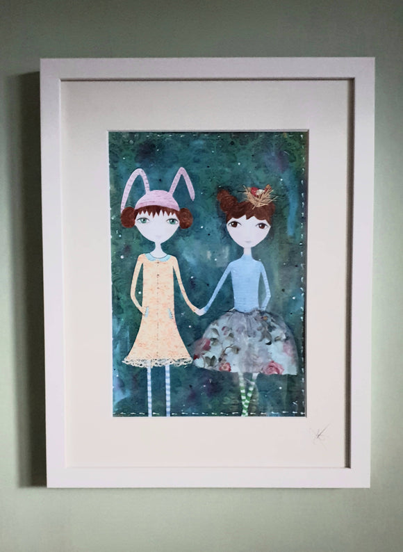 The Polly Sisters Framed Print. - The Biscuit Marketplace