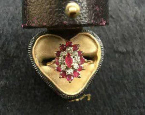 Vintage Ruby and Diamond Ring - The Biscuit Marketplace