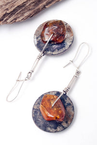Ethnic Baltic Amber Earrings - SOLD! - Order Similar - The Biscuit Marketplace