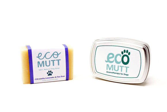 Citronella, Lavender & Tea Tree Dog Soap BAR with SOAP TIN - The Biscuit Marketplace