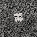 Man's Hair & Beard - Illustration Print - The Biscuit Marketplace