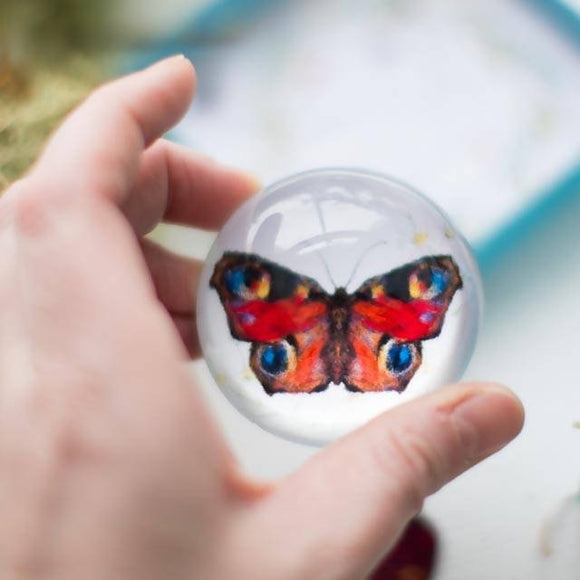 Butterfly Paperweight, keeper of wishes