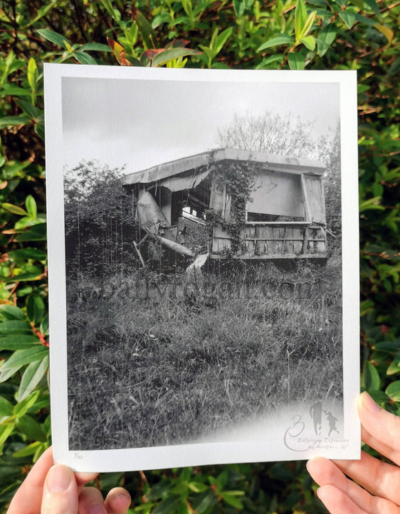 Caravan Park 1 by Sarah Eva Manson, Fine art print, Limited edition print, black and white photography - The Biscuit Marketplace