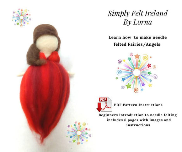 PDF Needle Felted Wool Fairy/Angel , Fairy crafts, Waldorf wool Angel, Waldorf Fairy PDF How to do Tutorial Guide. Plus Free gift tags PDF