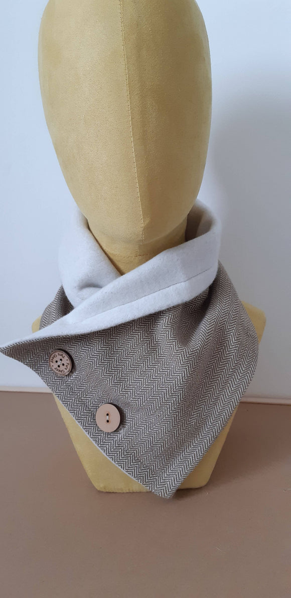 Cozy Collar Organic Cotton Scarf Olive Green - The Biscuit Marketplace