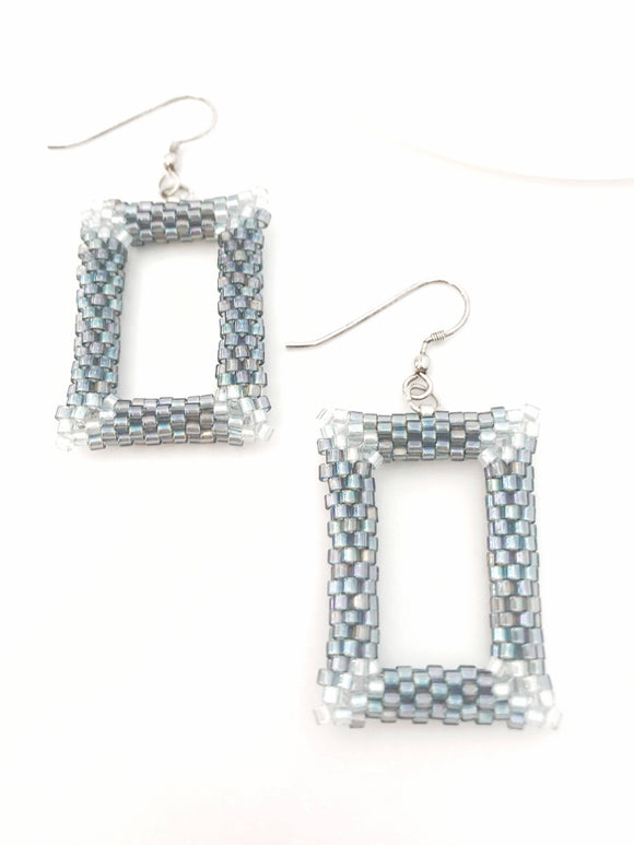 Grey Shimmer Earrings