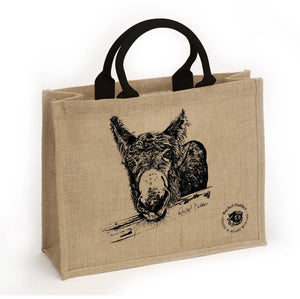 Jute Tote Bag featuring M'asal Beag Dubh - The Biscuit Marketplace