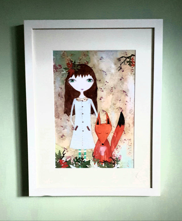 Polly & The Fox Framed Print - The Biscuit Marketplace