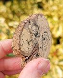 Face Wood Slice - Hand Drawn Wood Slice - Natural Organic Recycled, Irish Made - The Biscuit Marketplace