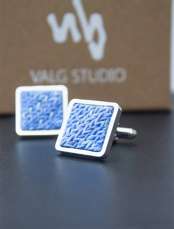 Woven Texture Cuff Link for Him - The Biscuit Marketplace