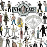 The Films Of Nicolas Cage - Illustrated Poster - The Biscuit Marketplace