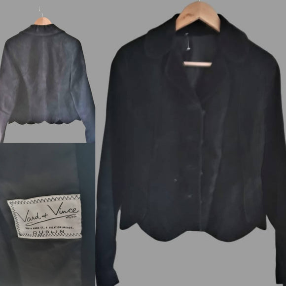 Vince Vard Black Suede Blazer Vintage - The Biscuit Marketplace