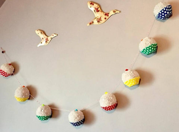 Pom Pom Cupcake Garland - The Biscuit Marketplace