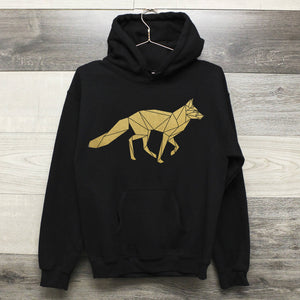 Geometric Running Fox Hoodie - The Biscuit Marketplace