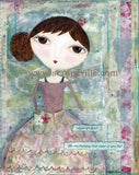 Pink Polly dolly Print