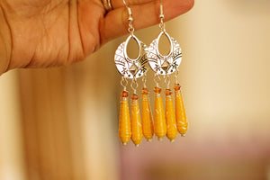 Boho Spirit Collection - Paper Bead Earrings - The Biscuit Marketplace