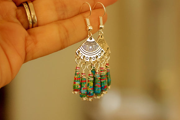 Boho Chic Collection - Paper Bead Earrings - The Biscuit Marketplace