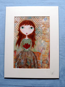 Polly Heart Print - The Biscuit Marketplace