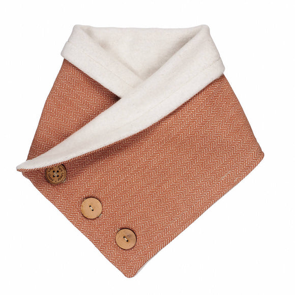 Cozy Collar Organic Cotton Scarf Rust Orange - The Biscuit Marketplace