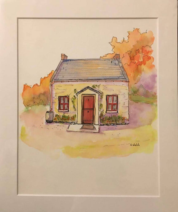 Gra mo Chroi- Watercolour and Indian Ink Painting - The Biscuit Marketplace
