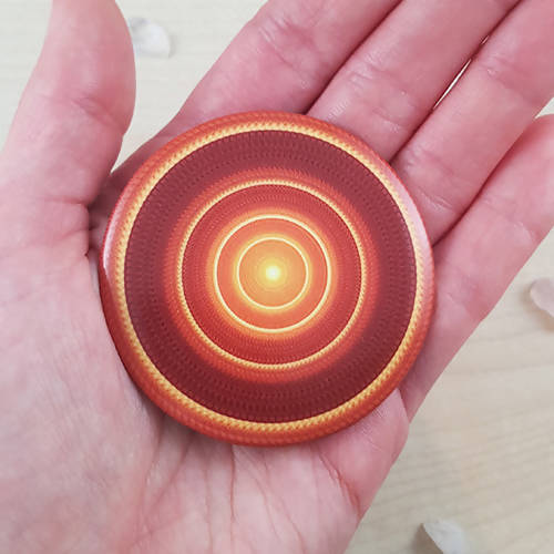 Gold And Orange Round Mandala Fridge Magnet - The Biscuit Marketplace