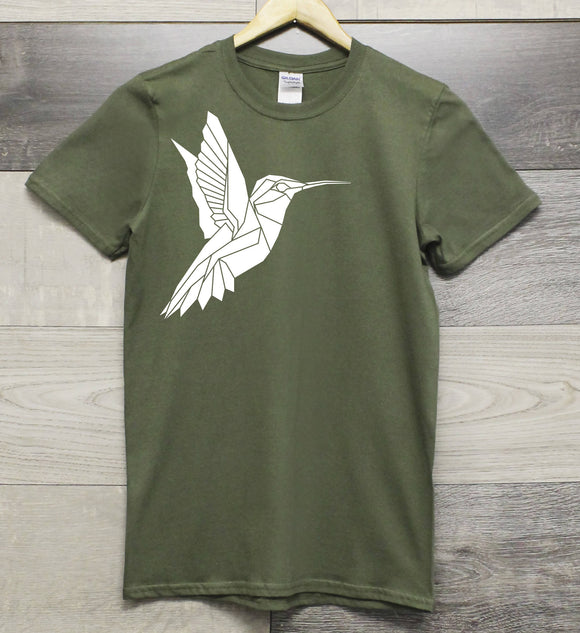 Unisex Hummingbird print t-shirt - The Biscuit Marketplace