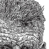 Samuel Beckett line drawing - Illustration Print