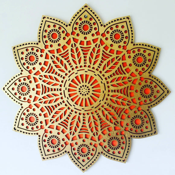 Autumn's Gold Mandala - The Biscuit Marketplace