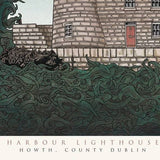 Harbour Lighthouse in Howth, Dublin - Illustration Print - The Biscuit Marketplace