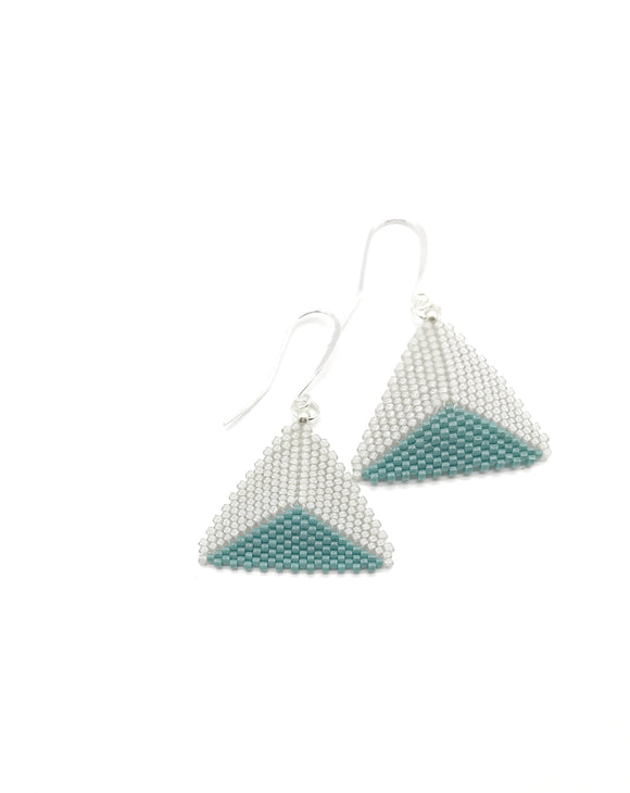 Aqua Triangle Earrings - The Biscuit Marketplace