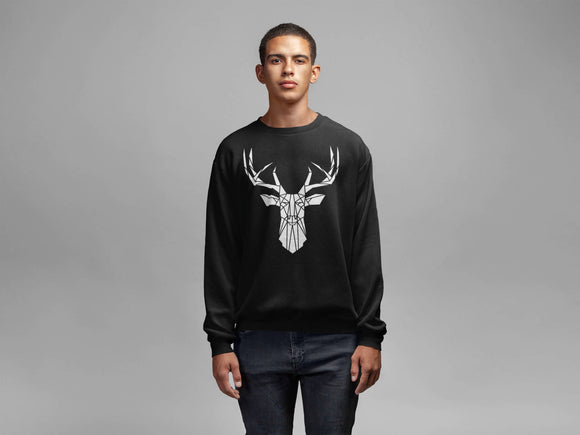 Geometric Stag Sweater