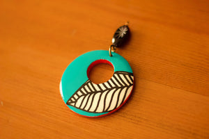 Decoupaged Wooden Pendant - The Biscuit Marketplace