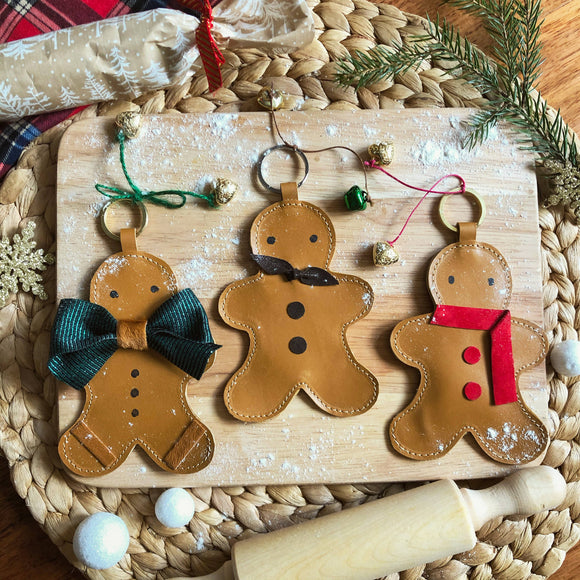 Gingerbread man key ring, Christmas decoration - The Biscuit Marketplace