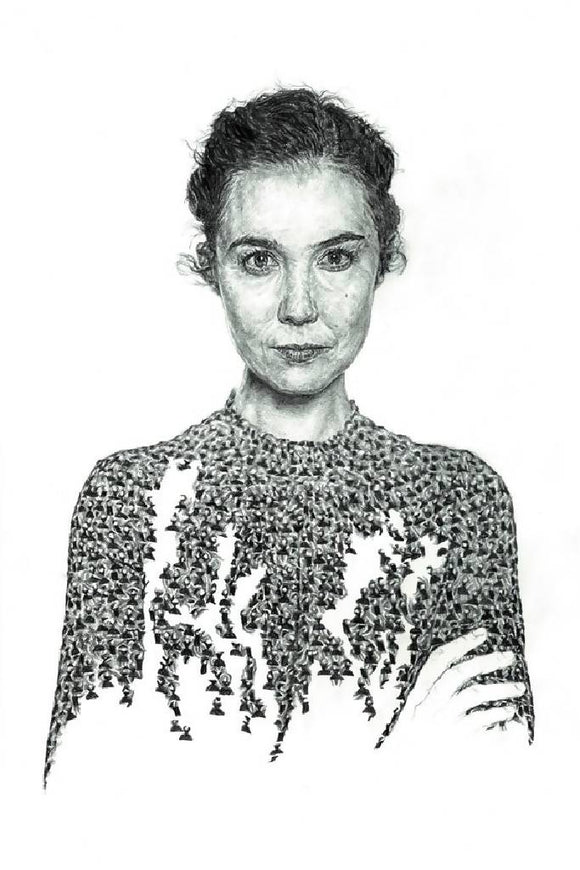Lisa Hannigan Irish Singer / Songwriter Portrait - Illustration Print - The Biscuit Marketplace