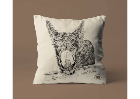 Natural Cotton Cushion Cover M'asal Beag Dubh - The Biscuit Marketplace