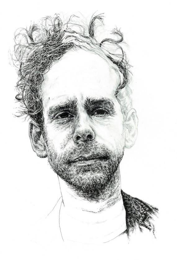 Bryce Dessner of The National, Portrait in unfinished style - Illustration Print - The Biscuit Marketplace