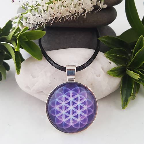 Flower of Life Sacred Geometry Pendant - The Biscuit Marketplace