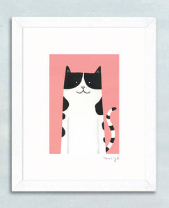 'Pretty Puss' signed giclée print - The Biscuit Marketplace