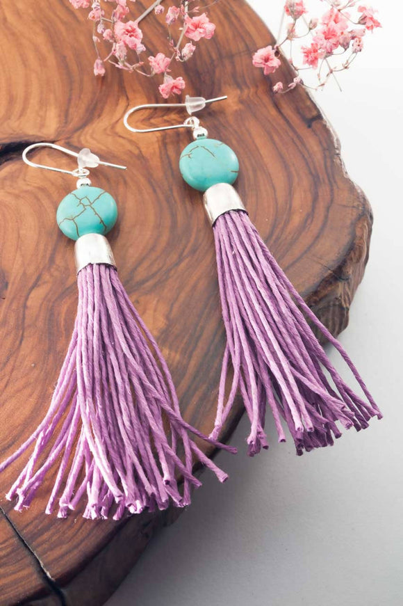 Howlite Tassel Earrings - The Biscuit Marketplace
