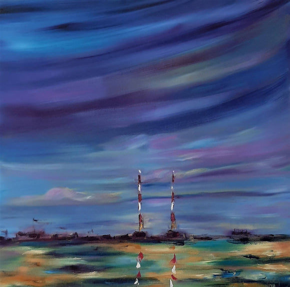 Dusk over Poolbeg - Fine Art Print - The Biscuit Marketplace