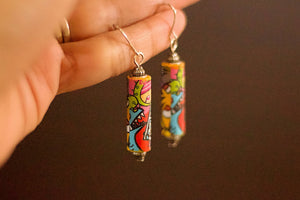 Comic Collection - Paper Bead Earrings - The Biscuit Marketplace