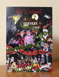 Xmas / Christmas Movie Card - Pack Of 3