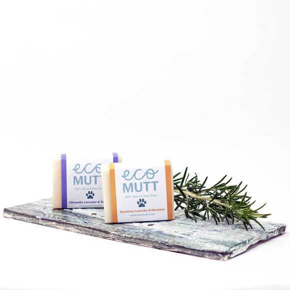 Eco Mutt DOG Shampoo Bar - Rosemary, Lavender & Mandarin - The Biscuit Marketplace