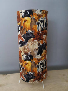 Multi coloured Cow Lampshade